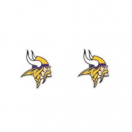 WinCraft, Inc. Minnesota Vikings post earrings - Vikings head