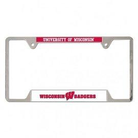 Wisconsin Badger metal license plate frame
