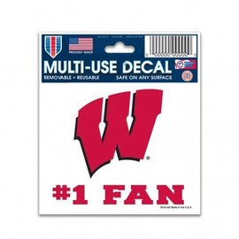 WinCraft, Inc. Wisconsin Badgers 3x4 Multi-use Decal #1 Fan