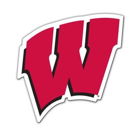 "Wisconsin Badgers 12"" W Magnet"