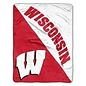 Northwest Wisconsin Badgers Half Tone 46X60 Micro Raschel Throw