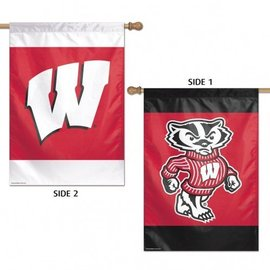 Wisconsin Badgers 2 sided Banner flag