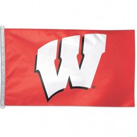 WinCraft, Inc. Wisconsin Badgers 3x5 Flag - Red with White W