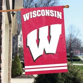 Wisconsin Badgers 44x28 Applique Banner Flag