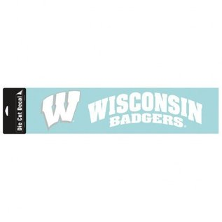 WinCraft, Inc. Wisconsin Badgers 4x16 White Decal