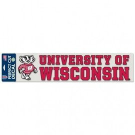 WinCraft, Inc. Wisconsin Badgers 4x17 Perfect Cut Decal