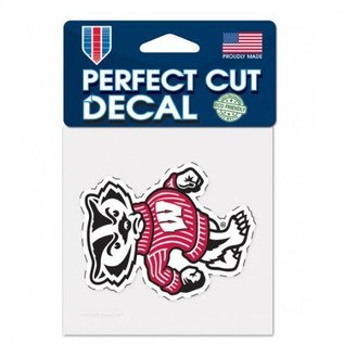 WinCraft, Inc. Wisconsin Badgers 4x4 Perfect Cut Decal - Bucky