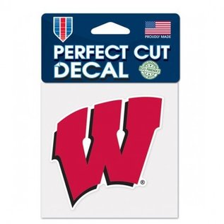 WinCraft, Inc. Wisconsin Badgers 4x4 Perfect Cut Decal - W