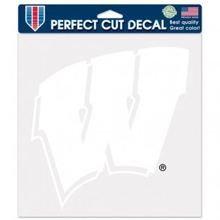 WinCraft, Inc. Wisconsin Badgers 8x8 White Perfect Cut Decal