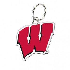 Wisconsin Badgers Acrylic W Keychain
