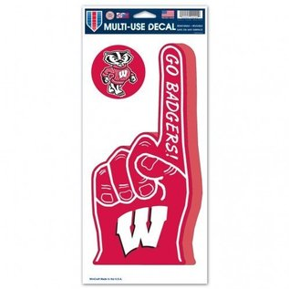 WinCraft, Inc. Wisconsin Badgers Big #1 Finger Decal