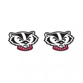 Wisconsin Badgers Bucky Head post earrings