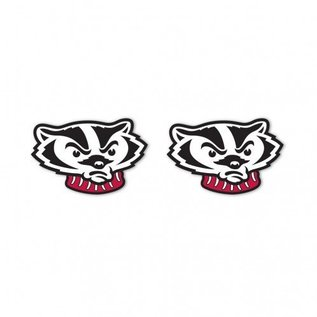WinCraft, Inc. Wisconsin Badgers Bucky Head post earrings