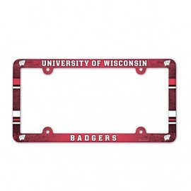 Wisconsin Badgers Colorful Plastic License Plate Frame
