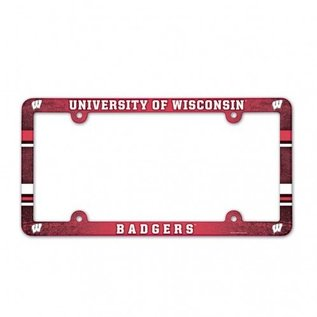WinCraft, Inc. Wisconsin Badgers Full Color Plastic License Plate Frame