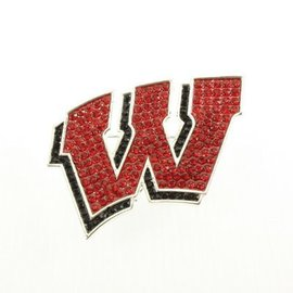 Wisconsin Badgers Crystal W Pin