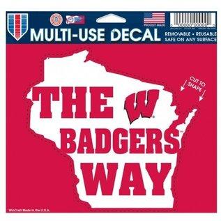 WinCraft, Inc. Wisconsin Badgers Decal - Badgers Way