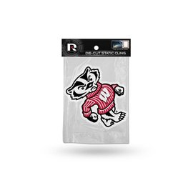Rico Industries, Inc. Wisconsin Badgers Shape Die Cut Static Cling with Bucky Logo