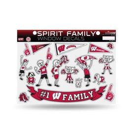 Wisconsin Badgers family sticker sheet