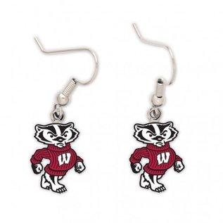 Wisconsin Badgers Full Bucky Dangle Earrings