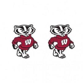 Wisconsin Badgers Full Bucky post earrings