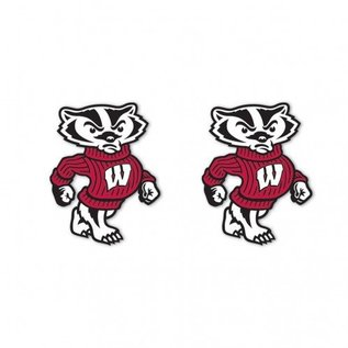 Wisconsin Badgers Full Bucky Post Earrings