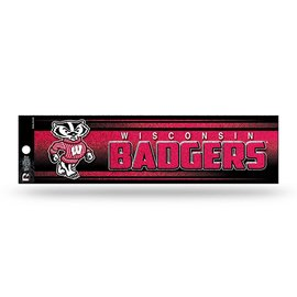 Wisconsin Badgers Glitter Bumper Sticker