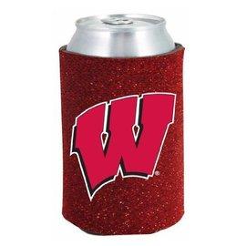 Kolder Wisconsin Badgers Glitter Can Cooler