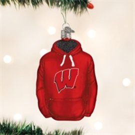 Wisconsin Badgers Hoodie Ornament
