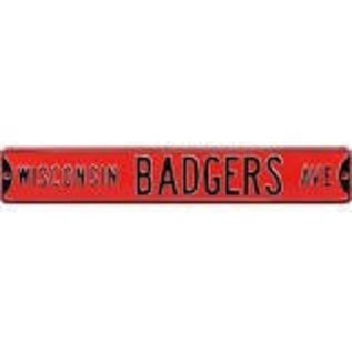 Authentic Street Signs Wisconsin Badgers Metal Avenue Sign