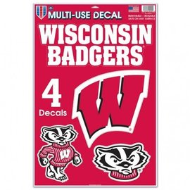 Wisconsin Badgers Multi-Use Decal Sheet