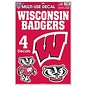 WinCraft, Inc. Wisconsin Badgers Multi-Use Decal Sheet