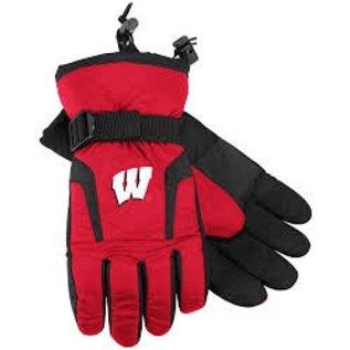 Adidas Wisconsin Badgers Nylon Gloves