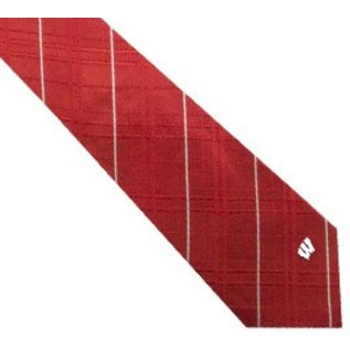 Eagles Wings Wisconsin Badgers Oxford Woven Tie