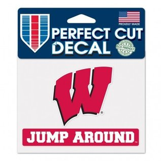 WinCraft, Inc. Wisconsin Badgers 4.5x5.75 Perfect Cut Decal - Jump Around