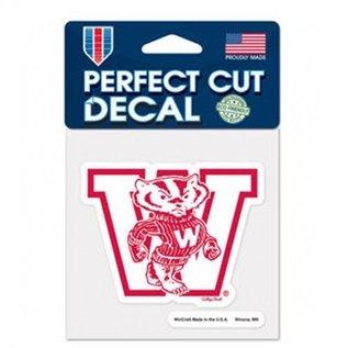 WinCraft, Inc. Wisconsin Badgers 4x4 Perfect Cut Decal - Vault logo