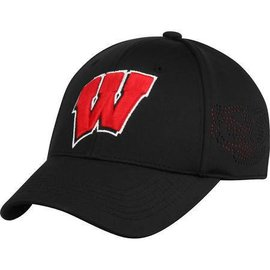Wisconsin Badgers Rails Black Mesh 1 fit hat