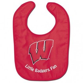 Wisconsin Badgers Red Baby Bib