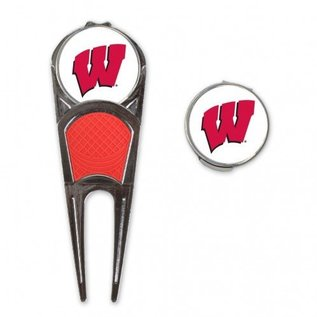 WinCraft, Inc. Wisconsin Badgers Ball Mark Repair Tool and Hat Clip