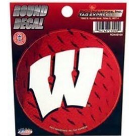 Wisconsin Badgers Round Decal with White W
