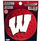 Rico Industries, Inc. Wisconsin Badgers Round Decal with White W