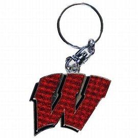 Wisconsin Badgers Shiny W Keychain
