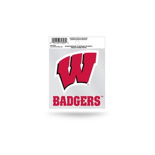 Rico Industries, Inc. Wisconsin Badgers Small Static Cling - W