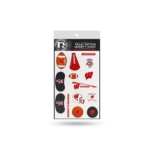Rico Industries, Inc. Wisconsin Badgers Team Tattoo Variety Pack