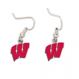 WinCraft, Inc. Wisconsin Badgers W Dangle Earrings