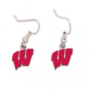 WinCraft, Inc. Wisconsin Badgers W Dangle Earrings