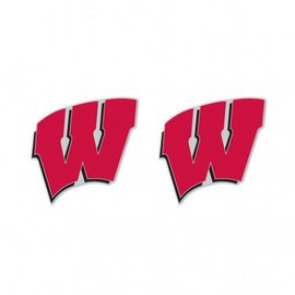Wisconsin Badgers W post earrings