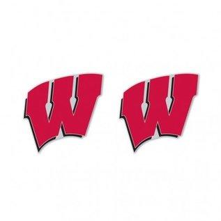 Wisconsin Badgers W post earrings