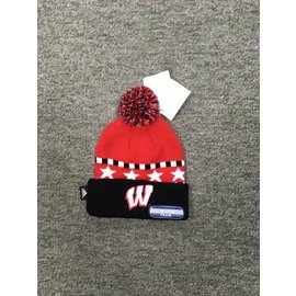 Wisconsin Badgers Youth knit hat Cuffed with Stars