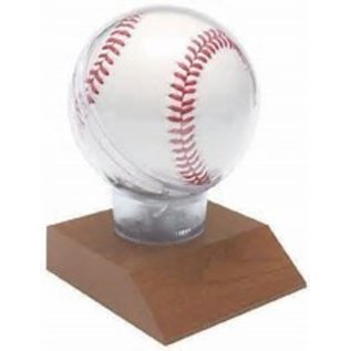 Wooden Base Baseball Holder